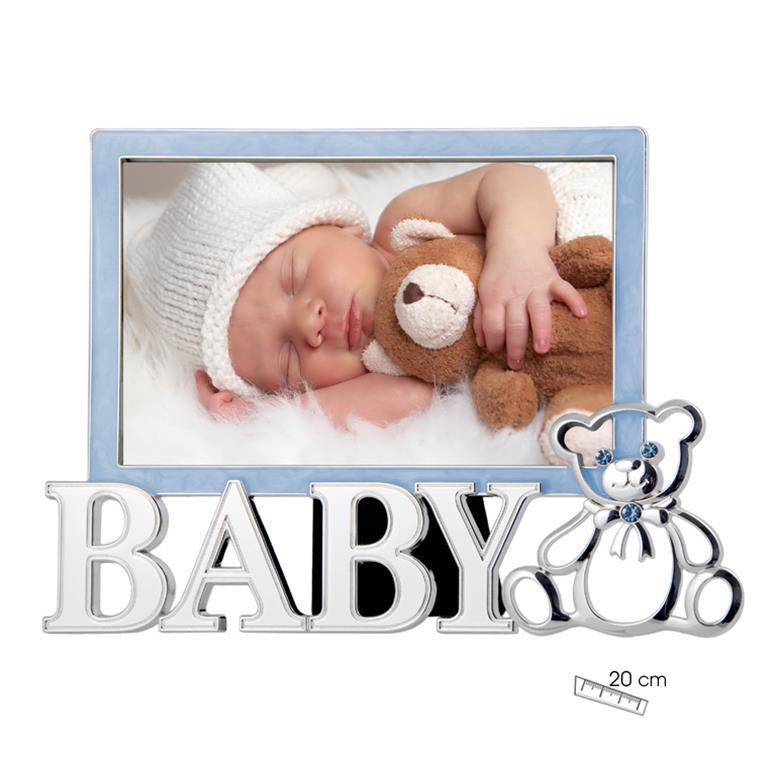 Marco de Foto Infantil Baby Osito Celeste