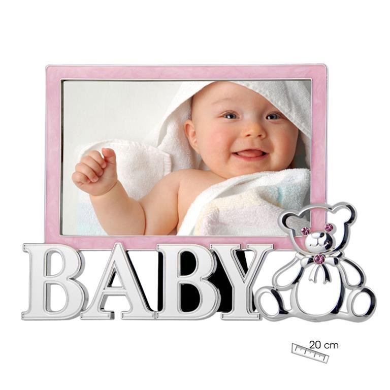 Marco de Foto Infantil Baby Osito Rosa