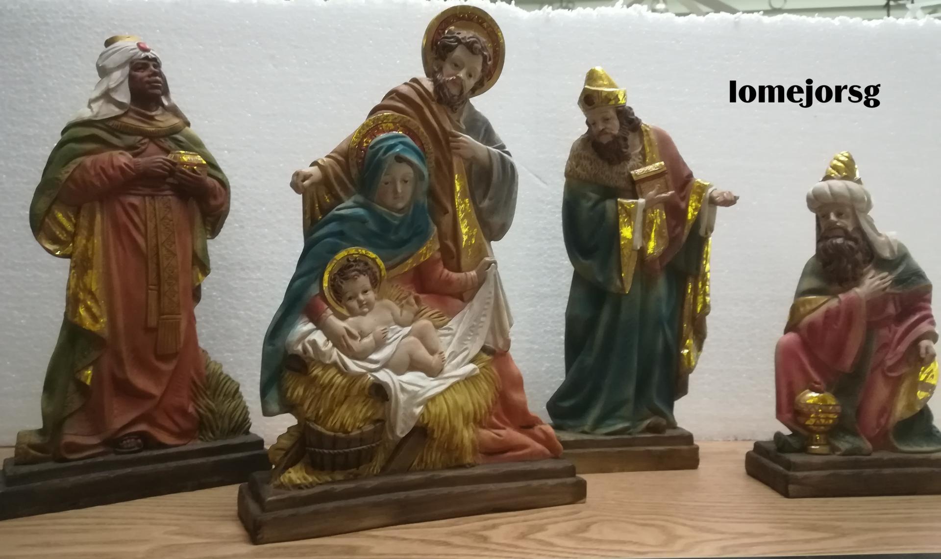 Belén Misterio 4 piezas con Reyes Magos