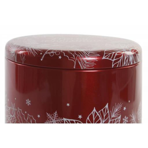 Caja Navidad Metal Redonda [2]