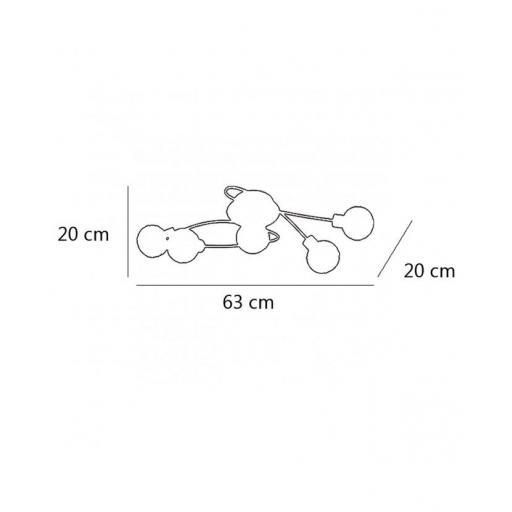Plafón Rolo 5/L Cromo [1]