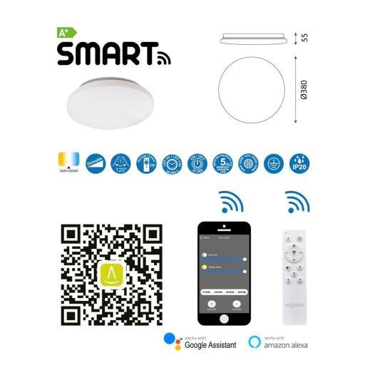 Plafón Led Inteligente Zero Smart 56 w [2]
