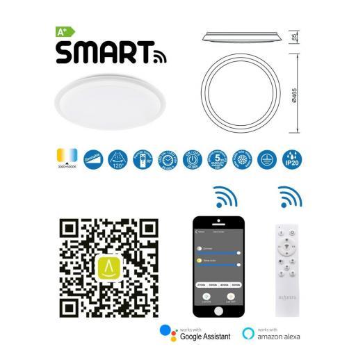 Plafón Led Inteligente Edge Smart 56w [3]