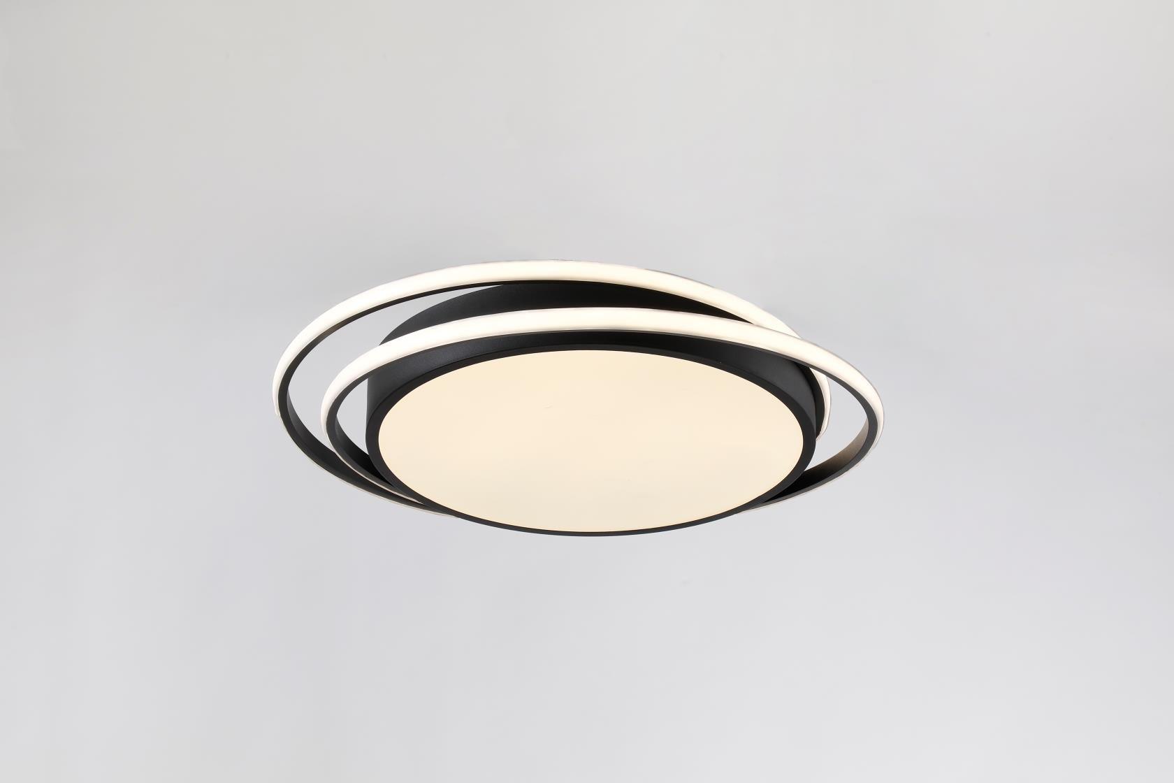 Plafón Led Negro 50 cm Kansas Circular