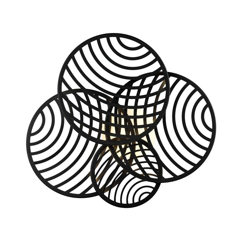 Plafón Aplique Collage Negro Led 60w