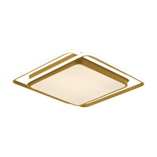 Plafón Led Oro 50 cm Kansas Cuadrado