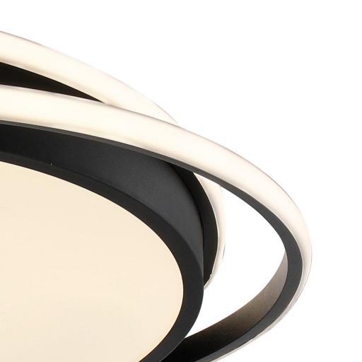 Plafón Led Negro 50 cm Kansas Circular [2]