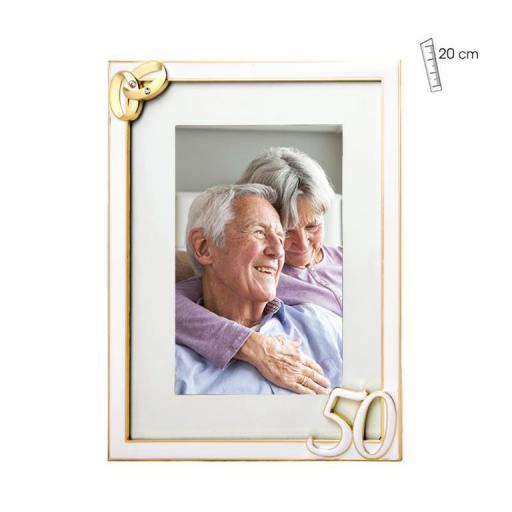 Marco Fotos 50 Aniversario con alianzas 15x20
