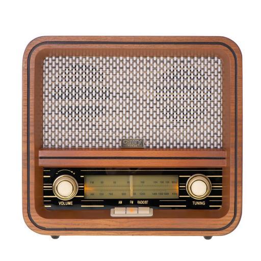 Radio Retro AM/FM con Bluetooth, USB, Alarma. Estéreo