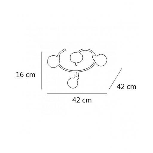 Plafón Rolo Cromo 3/L [2]