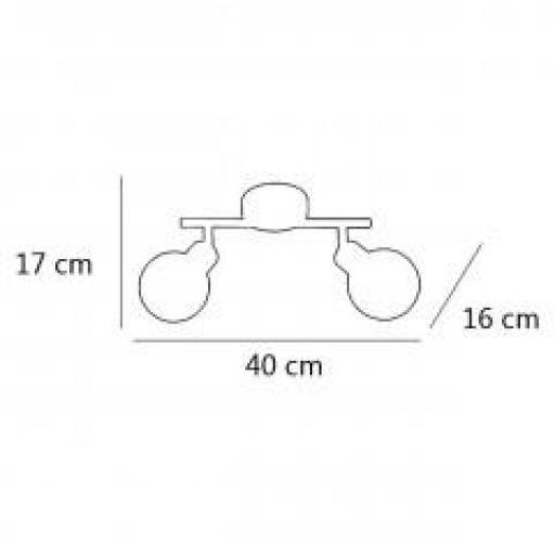 Plafón Rolo 2/L Cromo [1]