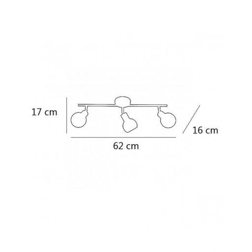 Plafón  Regleta Rolo 3/L  [2]