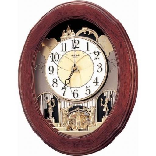Reloj Madera con Sonería Ovalado y Movimiento