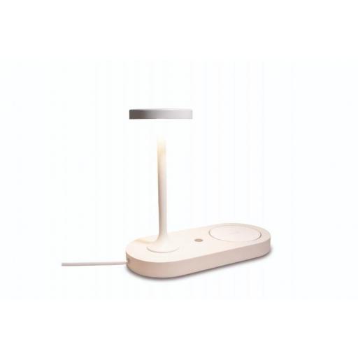 Sobremesa Ceres con Cargador de Inducción y USB Blanco