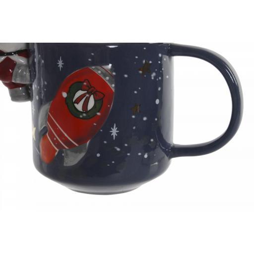 Taza Navideña con Santa Claus Relieve [2]