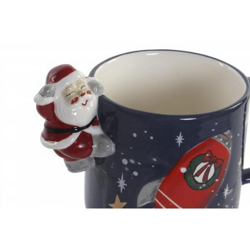 Taza Navideña con Santa Claus Relieve [1]