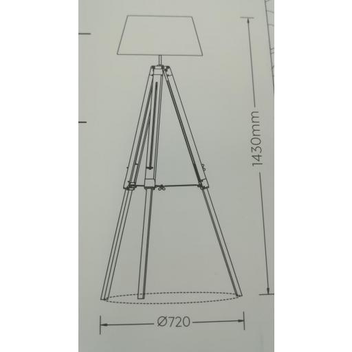 Lámpara Pie Tripod Blanco [3]
