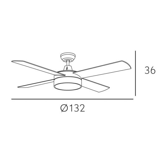 Ventilador Nevery Marrón [3]