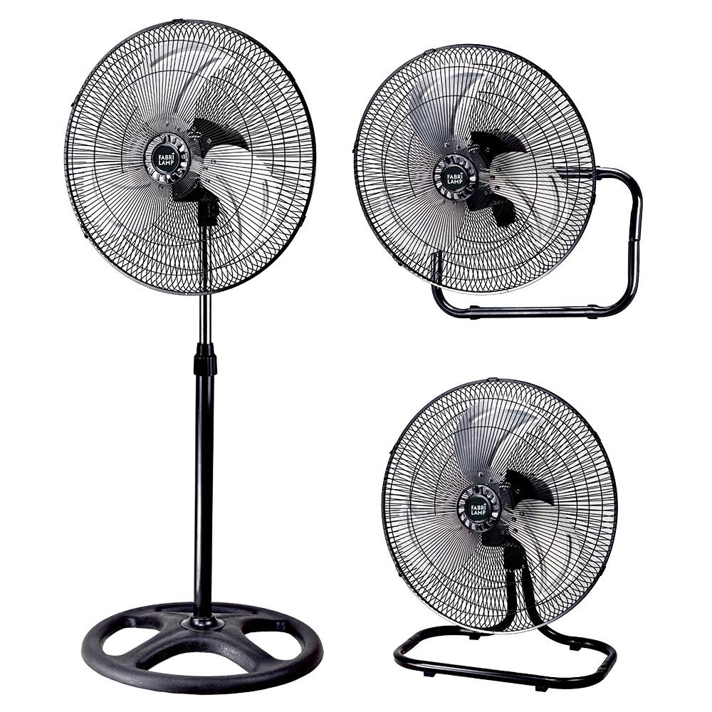 Ventilador Maloja Cromo/Negro