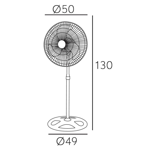 Ventilador Maloja Cromo/Negro  [1]