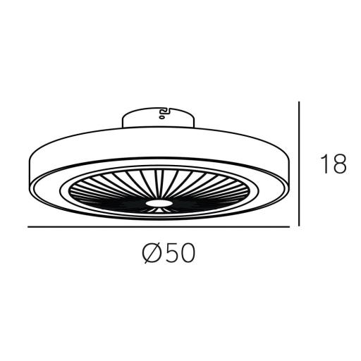 Ventilador Led 56 w Pampero Negro [2]