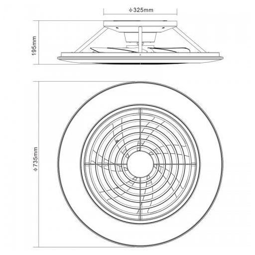 Ventilador Alisio XL Plata [3]