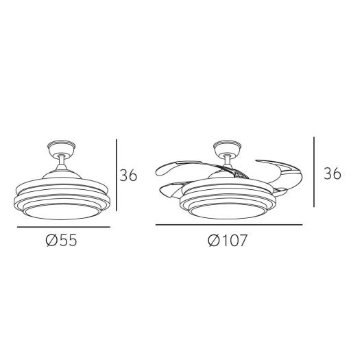 Ventilador Bayomo Blanco [1]