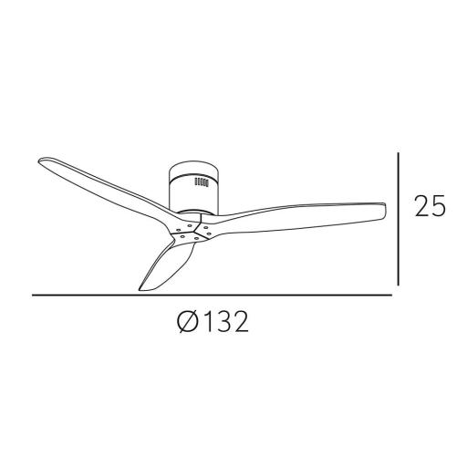 Ventilador Aguilón Cuero Roble DC [3]