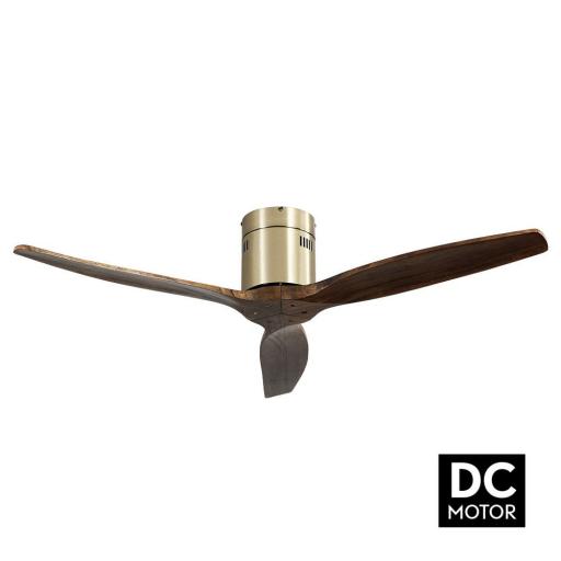 Ventilador Aguilón Cuero Roble DC [0]