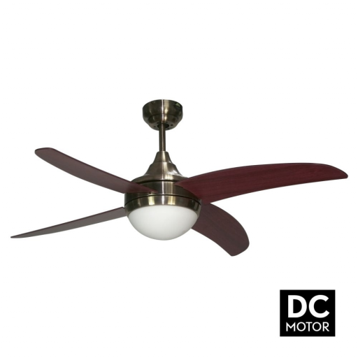 Ventilador Osiris Cuero Nogal Motor DC