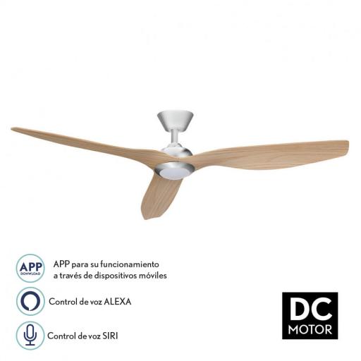 Ventilador Delfos Niquel Haya Wifi [0]