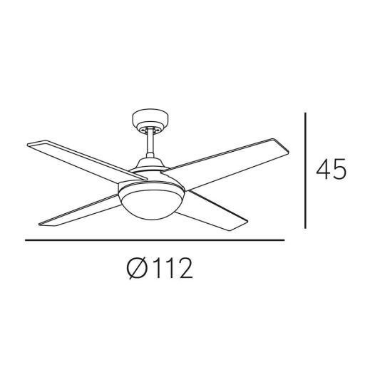 Ventilador Eolo Niquel (Plata/Haya) Motor DC [1]