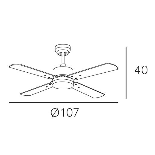 Ventilador Karaburu Niquel Motor DC [1]