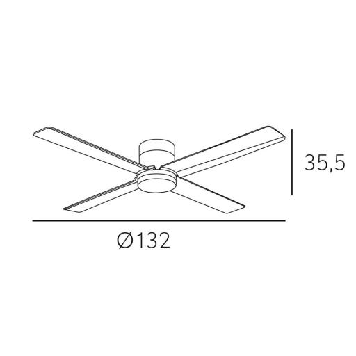 Ventilador Kona Marrón Motor DC [1]