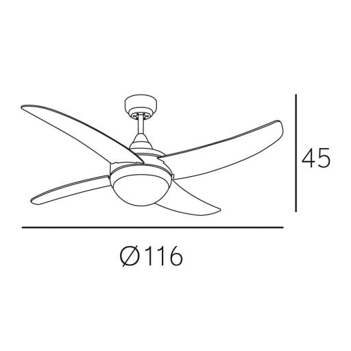 Ventilador Osiris Niquel Plata Motor DC [1]