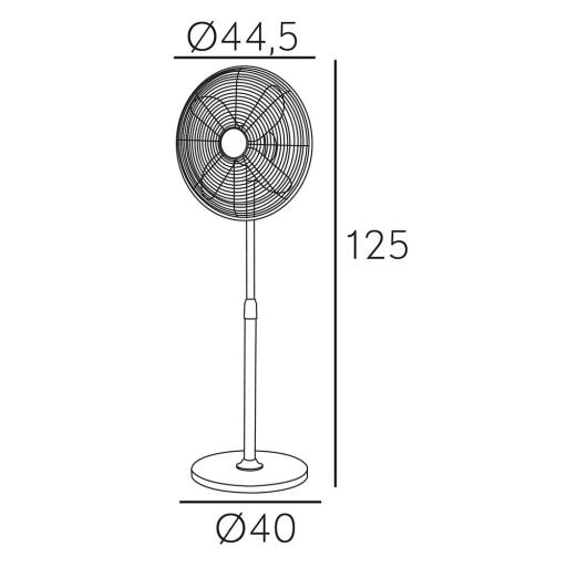 Ventilador Pie Pali Cromo [2]
