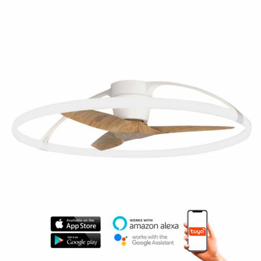 Ventilador Nepal Blanco Haya Inteligente [0]