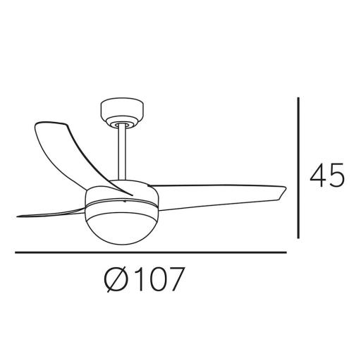Ventilador Fuga Plata [2]