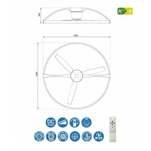 Ventilador Nepal Blanco Inteligente [2]