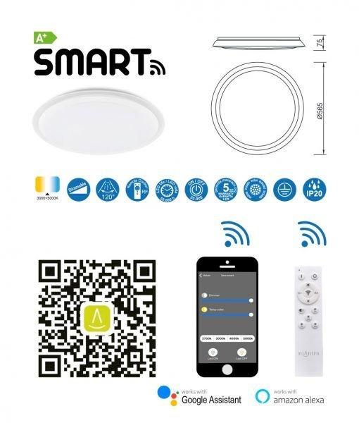 Plafón inteligente Smart 80w