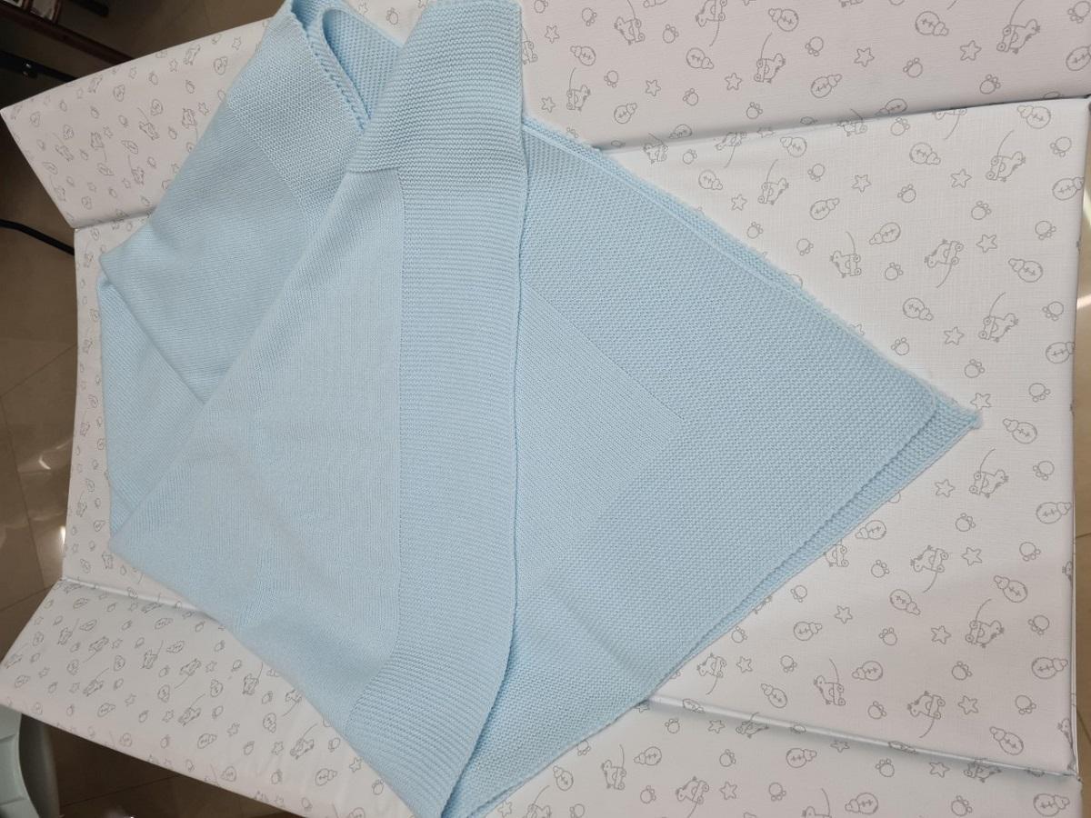 Chal o Toquilla de Color Azul Lisa