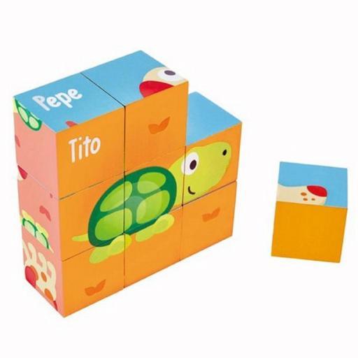 Puzzle Bloques Pepe & Friends [1]
