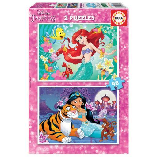 Puzzle 2 X 48 Piezas Ariel nas Jasmin