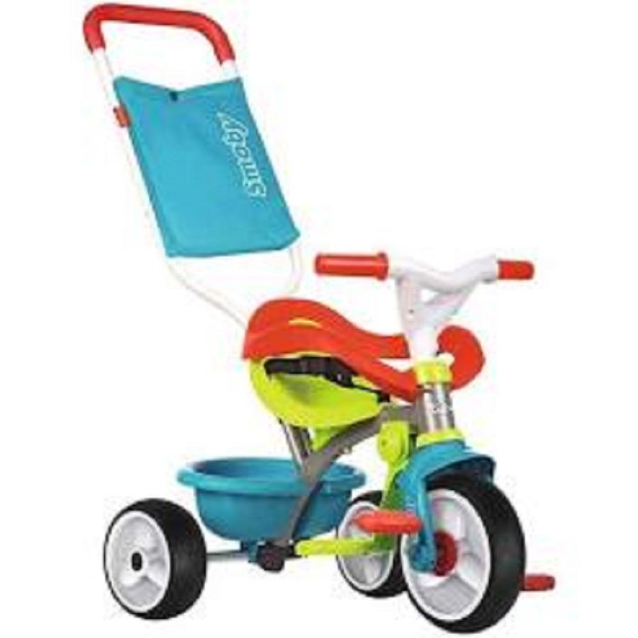 Triciclo Be Move Confort Azul con Ruedas de goma Sillenciosa