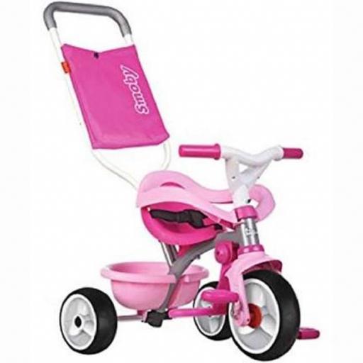 Triciclo Be Move Confort Rosa con ruedas  de goma sileniosa