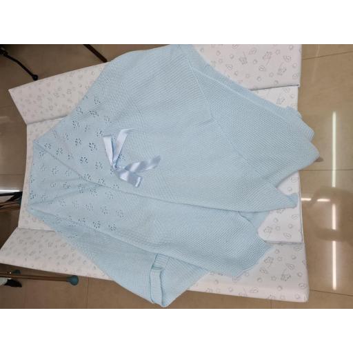 Chal o toquilla de lana Color Azul