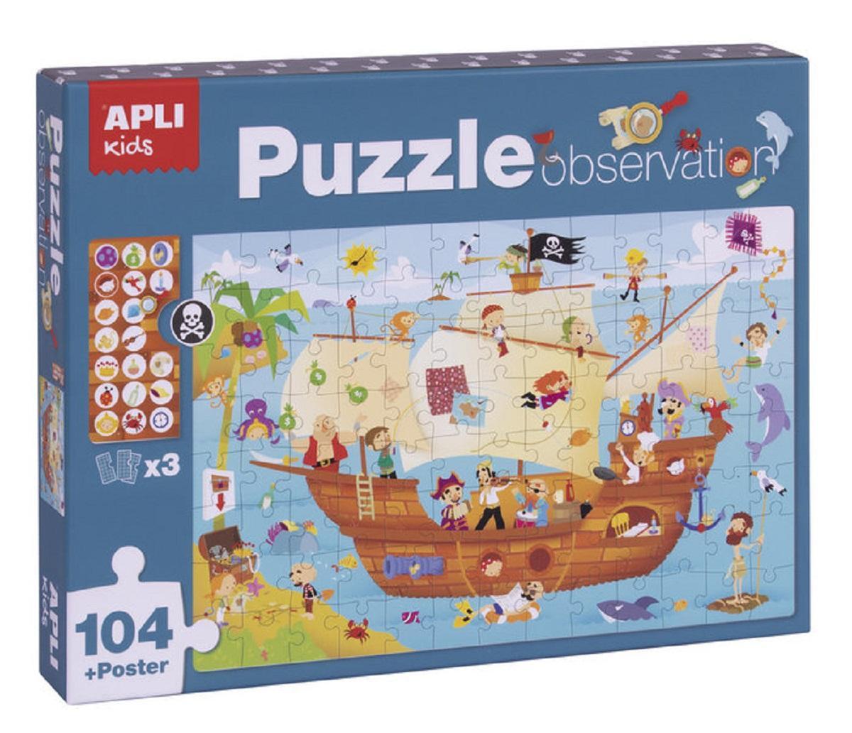 Puzzle Observation Barco Pirata 104 Piezas