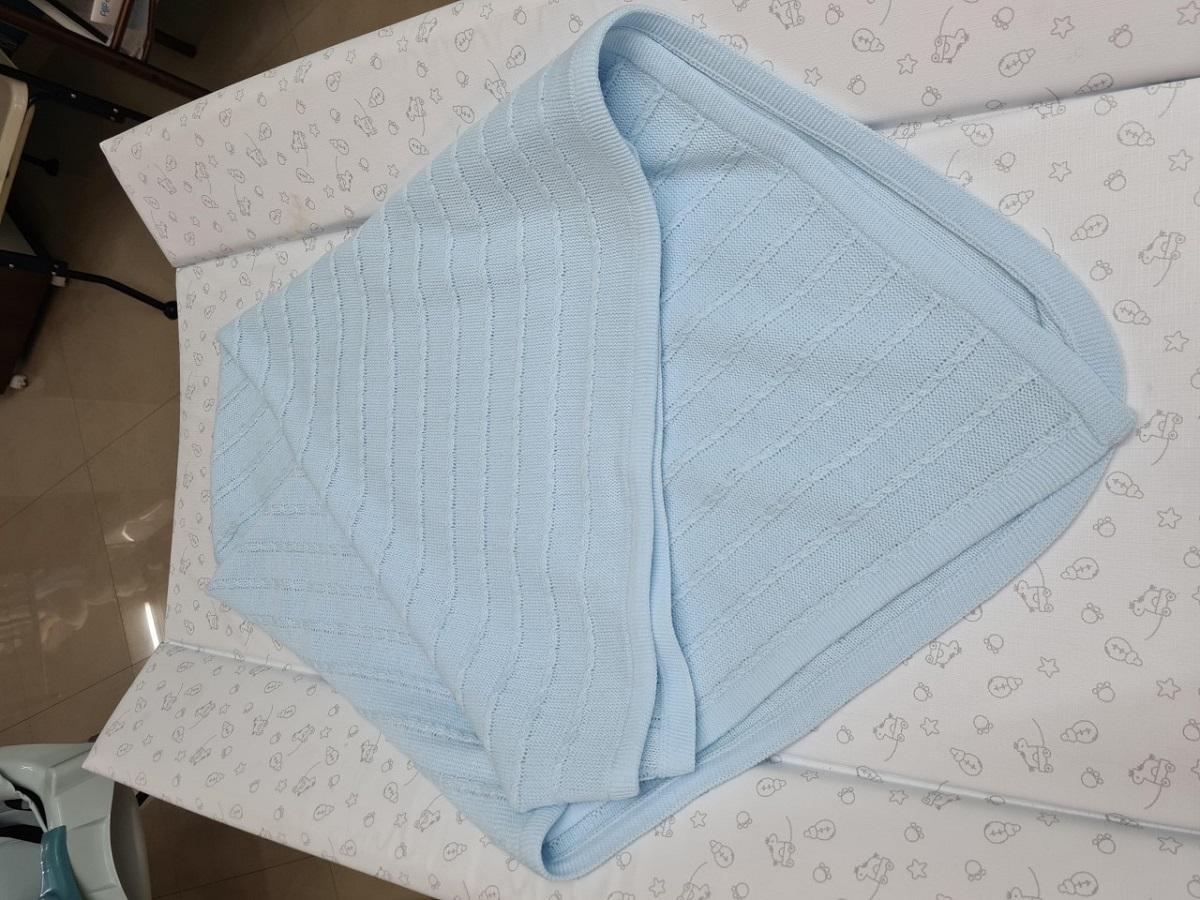 Chal o Toquita de Lana color azul