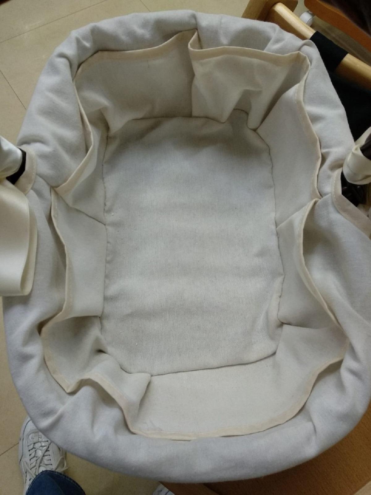 Canastilla Ovalada de mimbre en color nogal