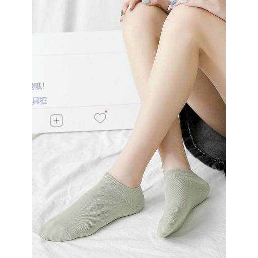 5 pares calcetines tobilleros unicolor [1]
